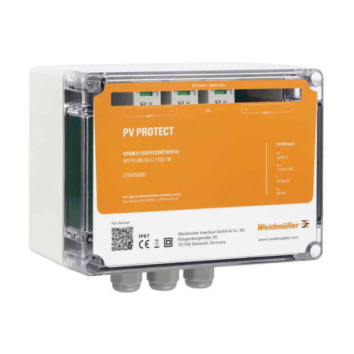Surge voltage arrester  (Photovoltaic systems) VPUM1I1SXFXV1O0TXPX10