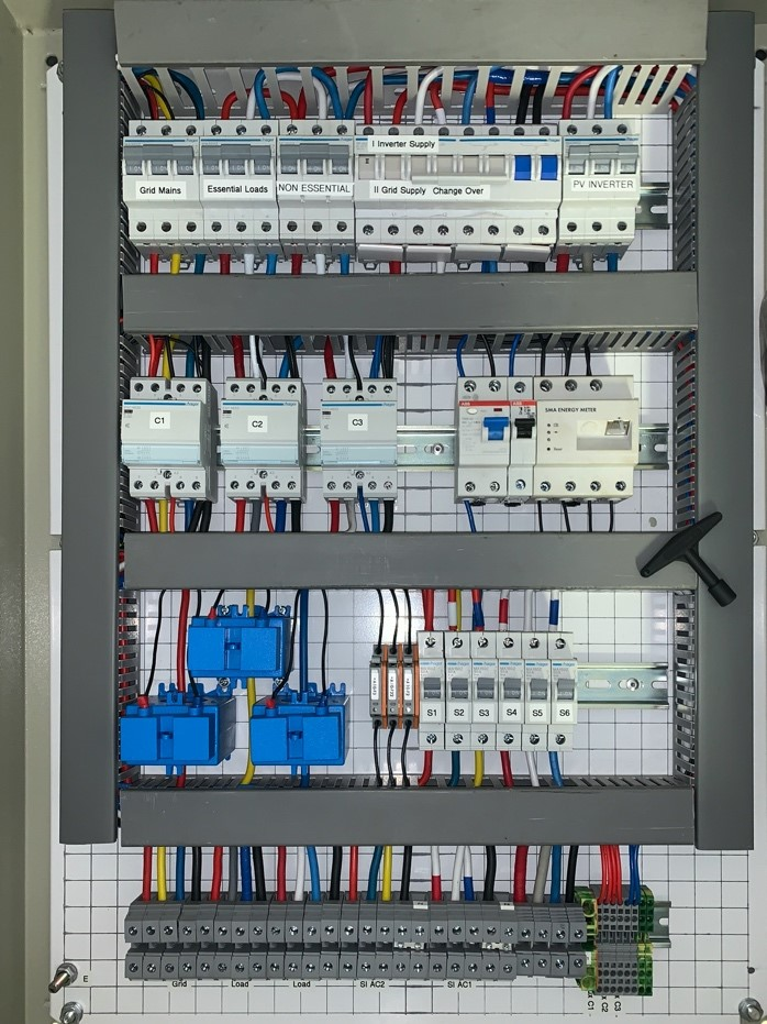 AC DISTRIBUTION BOARD for single cluster 3phase installations