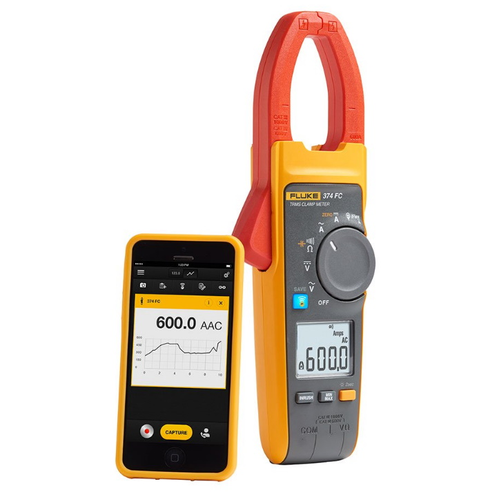 Fluke 376 FC True-RMS AC/DC Clamp Meter with iFlex